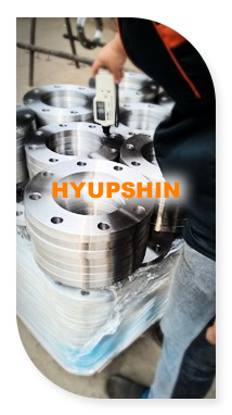 flange coating thickness testing, jinan hyupshin flanges co., ltd